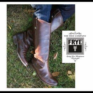 Frye Melissa Dark Brown Knee High Boot